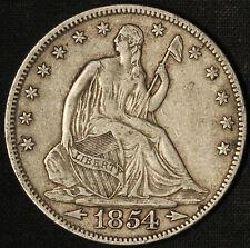 1854 Seated Liberty Half Dollar - Free Shipping in the USA