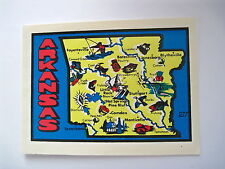 Delightful Vintage Decal for the State of Arkansas with Map of State *