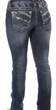 MISS ME JP8489T SZ 29 Dark Wash Flap Pocket Straight Leg Jeans (NEW WITH TAGS)
