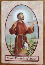 St. Francis of Assisi relic holy prayer card