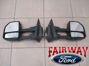 15 thru 20 F-150 OEM Genuine Ford ALL Manual Telescopic Trailer Tow Mirrors PAIR