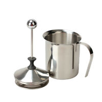800mL Milk Frother Cappuccino Stainless Steel Milk Pump Creamer Foam Double Mesh