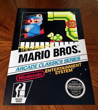 Mario Bros Arcade Classics Series NES box art video game poster print nintendo