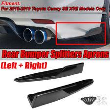 Rear Bumper Lip Diffuser Spoiler Splitters Apron For 2018-19 Toyota Camry SE XSE