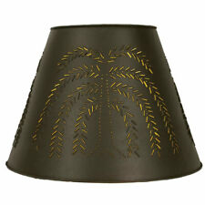 New 17- Inch WILLOW Lamp Shade in Dark Brown Tin