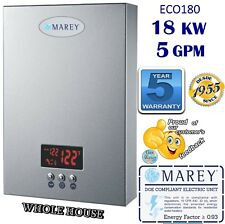 Electric Tankless 5Gpm Water Heater Instant 18 Kw 220V Whole House Marey Eco180