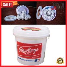 Baseballs Bucket 24 Pack Of Official League Recreational Grade OLB3 R8U Solid