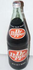 Vintage siebziger versiegelt Dr. Pepper 32oz Glasflasche voller Soda Pop alte UPC Code