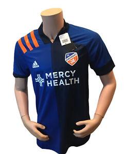 Adidas 2020/2021 FC Cincinnati Home Blue Authentic Aeroready Jersey EH8678 Med