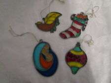 Stained Glass Sun Catcher Christmas Ornament Stocking,Ornament,Mother& amp; Child +
