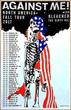 AGAINST ME! Fall Tour 2017 Ltd Ed RARE New Poster +FREE Punk Rock Alt Poster!