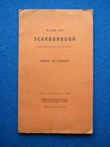 Scarborough Fold-Out Street Map - 1956