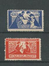 Nederland  134-135 Toorop  MH/ongebr  CV 45 €