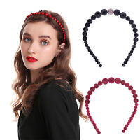 Women's Velvet Pearl Hairband Headband Hair Accessories Hair Band Hoop Costume