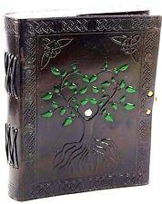 Handpainted Celtic Tree of Life Handmade Leather 8x6 Journal  NEW