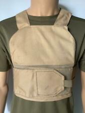 More details for british army issue tan covert body armour vest cover crossfit training