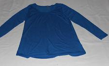 NWOT Women's Juniors LULA ROE Blue Long Sleeve Tunic Top Size XL