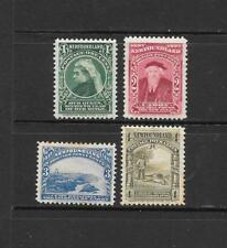 1897 Queen Victoria SG66 to SG69 4c. short set of 4 Mint hinged NEWFOUNDLAND