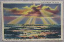 "Vintage Color Postcard,""Sun Rays on Lake Superior"",Minnesota's North Shore Drive"