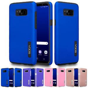 For Samsung Galaxy S8 Shockproof Slim Hybrid Hard TPU Armor Phone Cover Case