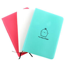 """Molang Rabbit"" Faux Leather Diary Book Agenda Scheduler Planner Paper Notebook"