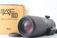 [Near Mint+]  Nikon AF Micro Nikkor 200mm F/4 D ED IF Macro Lens From Japan #410