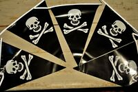 Pirate Party Bunting Flag Banner Skull & Cross Bone Triangle Plastic Pennant 6m