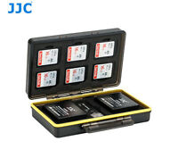 JJC BC-3NPW12 Battery Case for 2x Fujifilm NP-W126 W126S 6x SD Card 1x Reader
