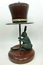 Maitland Smith Table Lamp Rabbit Umbrella Top Hat Rare Alice In Wonderland Decor