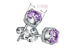 Sterling Silver 925 Crown Stud Earrings Swarovski Element Zirconia 4.00 cttw L15