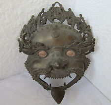 antique  devil  evil  bronze mask
