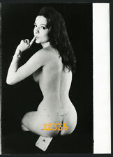 nude girl on home made greetings card, Vintage fine art Photograph,  1980's