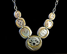 Necklace N2861 Etched Lovely .925 $199 Silpada Boho Bib Sterling Silver & Brass