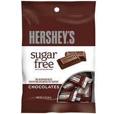 Hershey's Sugar Free Milk Chocolate Bars - 3oz bags - 3 bags