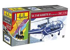 Heller 1/72 SA 316B Alouette III Gendarmerie Gift Set # 56286