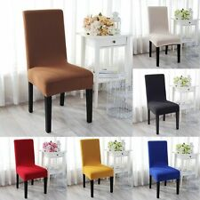 2/4/6pcs Removable Stretch Slipcovers Dining Lycra Spandex Chair Seat Cover UK