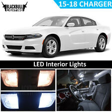White LED Interior Light Accessory Kit MAP DOME for 2015-2018 Dodge Charger 17PC