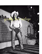 Vtg Celebrity Photo Black White Margot Kidder in Cowgirl outfit