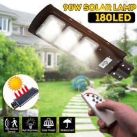 90W 90000LM LED Solar Street Wall Light Motion Sensor Outdoor Timing 5