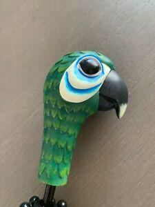 NEW Disney Broadway Mary Poppins Parrot Head Child Black Umbrella-