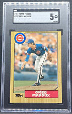 1987 Topps Traded Greg Maddux Rookie Card #70T Chicago Cubs SGC 5 EX