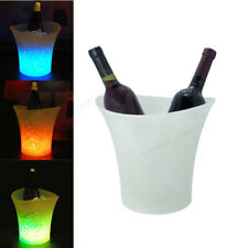 5L LED Ice Bucket Color with Light Change Flashing Cool Bars Night Party DE