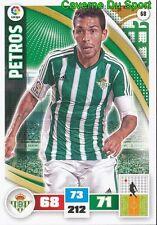 068 PETROS BRAZIL REAL BETIS CARD ADRENALYN LIGA 2016 PANINI