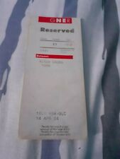 GNER Seat Reservation Label-Kings Cross to York