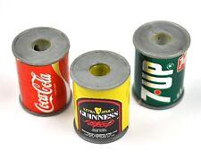 Set 3 Sharpener USA Pencil Can Mould Coca-Cola Coke +7UP + Guinness Beer