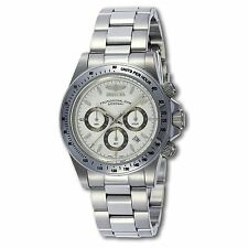 NEW Invicta 9211 Mens Speedway ss date chronograph 200m white cute analog watch