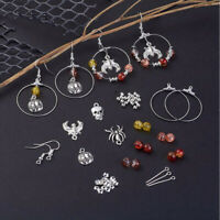 177x/Set DIY Halloween Charm Dangle Earrings Making Kit Kidney Earwire Hoops YK