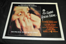 He Knows You're Alone Original 22x28 Half 1/2 Sheet Movie Poster - (1980) ITB WH