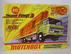 Repro Box Matchbox SuperKings K-13 DAF Building Transporter