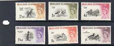 QEII FALKLAND ISLANDS 1960 BIRDS PART SET UMM SG;196,197,198,199,201,202